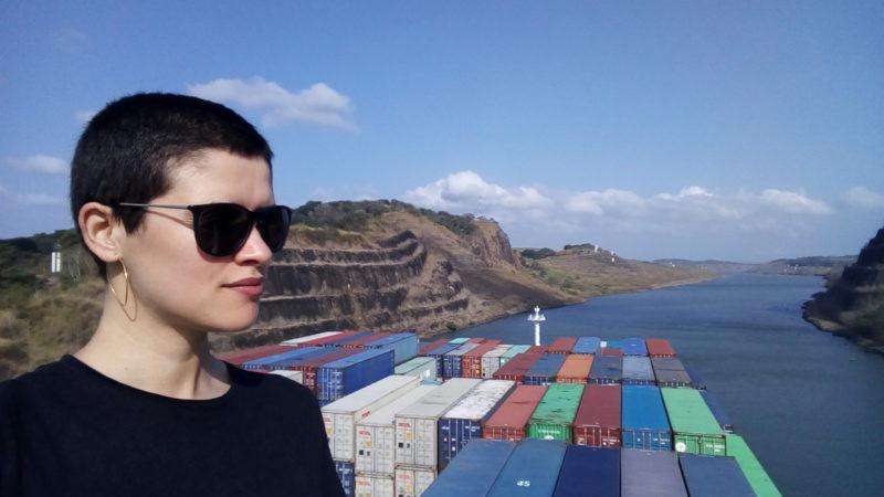 Je fais le tour du globe sur un cargo